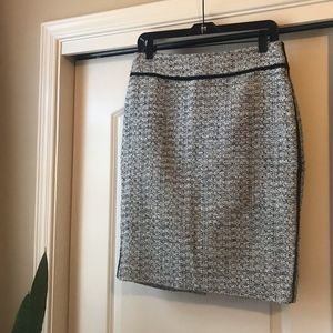 AnnTaylor wool boucle pencil skirt